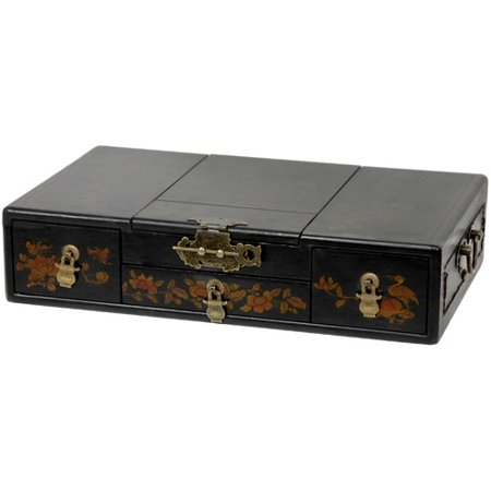 Oriental furniture large mirror jewelry box for Mirror jewelry box