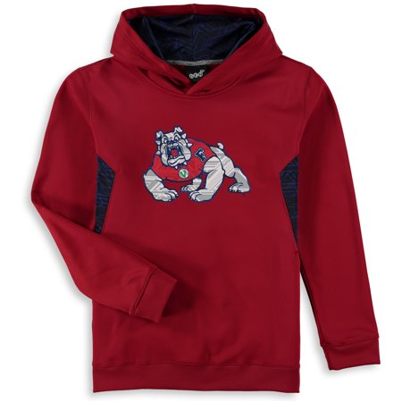 Fresno State Bulldogs Youth Shattered Poly Pullover Hoodie - Red