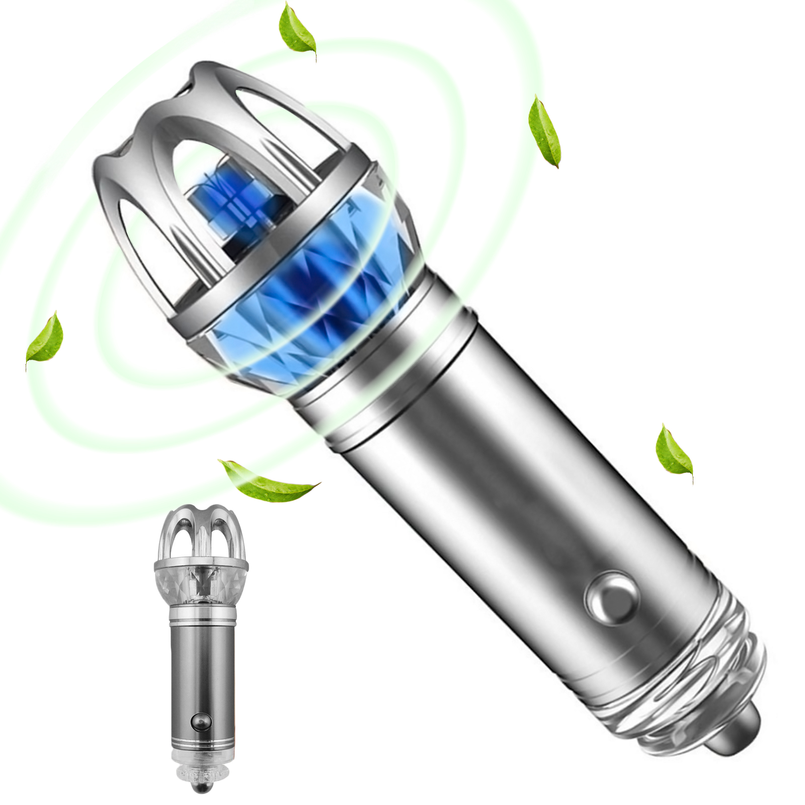 Car Fresh Air Ionic Purifier Oxygen Bar Ozone Ionizer Cleaner Removes Cigarette Smoke Pollen Pollutants NEW