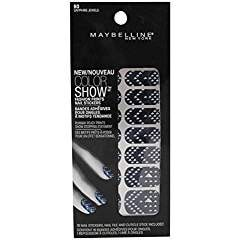 Maybelline Limited Edition Color Show Fashion Prints Nail Stickers - 60 Sapph...