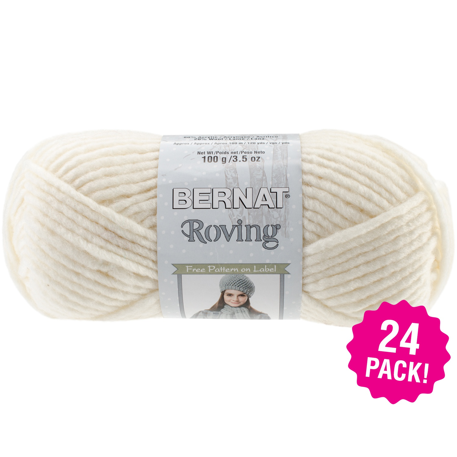 Bernat Roving Yarn - Rice Paper, Multipack of 24