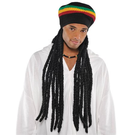 Buffalo Soldier Rasta Hat with Dreads Adult Costume - Halloween Buffalo