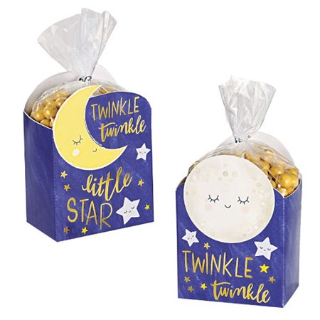 Baby Shower 'Twinkle Twinkle Little Star' Favor Boxes w/ Bags (8ct ea.)](Star Wars Favor Bags)