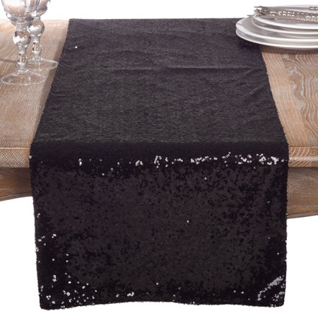 Saro Lifestyle Shimmering Sequin Evening Dinner Party Event Table Runner