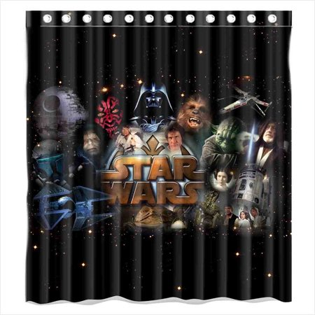 Deyou movie star wars shower curtain polyester fabric for Star material for curtains