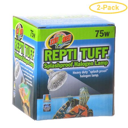 Zoo Med Turtle Tuff Splash - Zoo Med Turtle Tuff Splashproof Halogen Lamp 75 Watts - Pack of 2