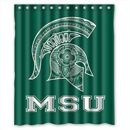 DEYOU Michigan State Spartans Shower Curtain Polyester Fabric Bathroom Size 60x72 Inches