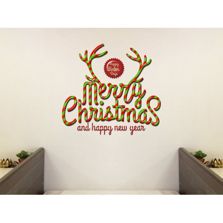 3D Wall Xmas Decals Decorator-Merry Christmas-Happy Winter Days(10