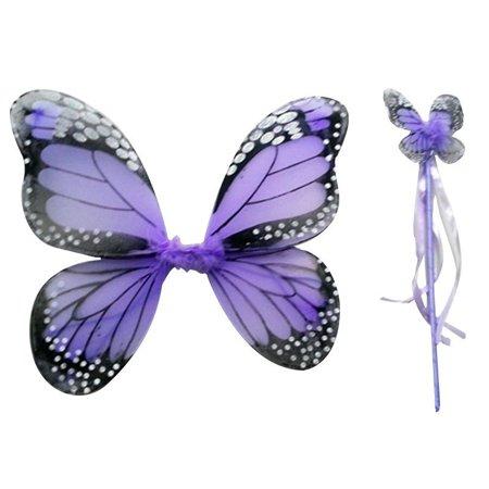 Big Savings/Clearance, Katynee 2 PCS Monarch Butterfly Wing Headband Sparklers Glitter Cosplay Costume Fairy Costume Children Girl, Light Purple