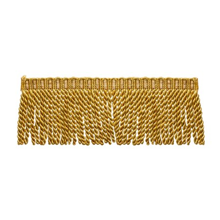 Housing 3 Light Trim - 3 Inch Long Bullion Fringe Trim, Style# DB3 -  Medium and light Gold - Golden Rays 4875 (Sold by The Yard)