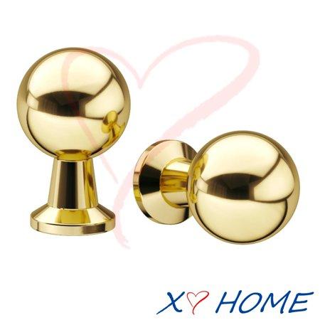 1 Inch Round Modern Brass Knob with Base (Set of 1) 19mm Modern Brass Knob