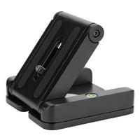 EOTVIA Folding Quick Relese Plate,Black Z Flex Tilt Folding Quick Release Plate Stand Mount For Tripod Camera CO