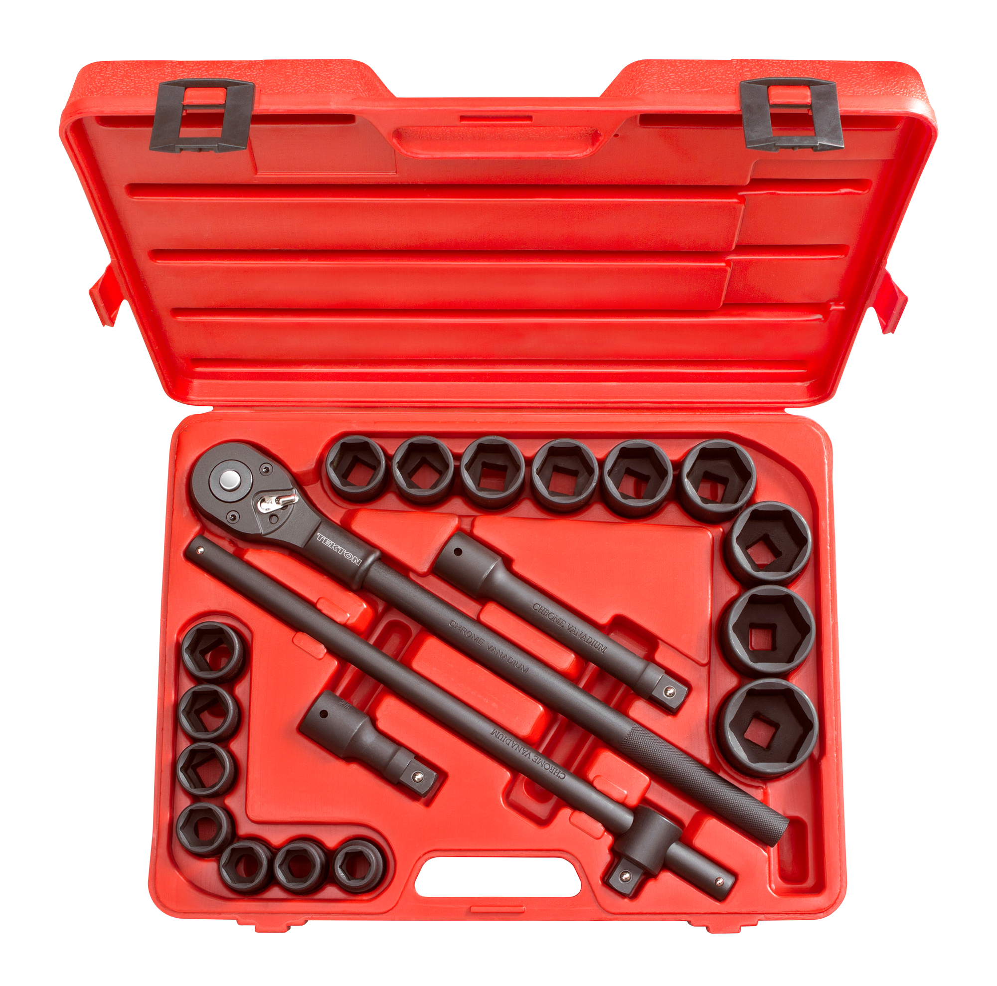 TEKTON 3/4-Inch Drive Impact Socket Set, Inch, Cr-V, 6-Point, 3/4-Inch - 2-Inch, 21-Piece | 4899