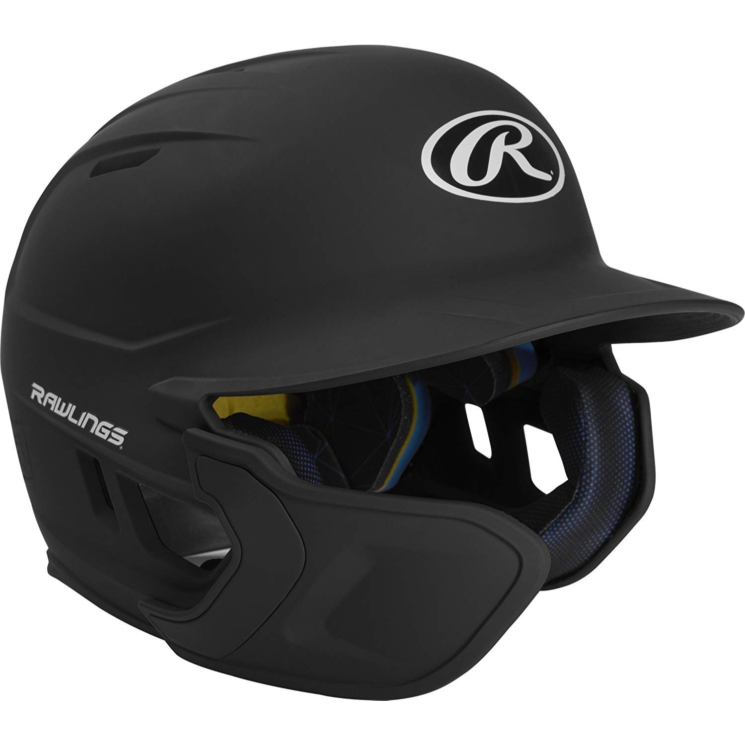 Rawlings Mach EXT Batting Helmet JR-LH, Black