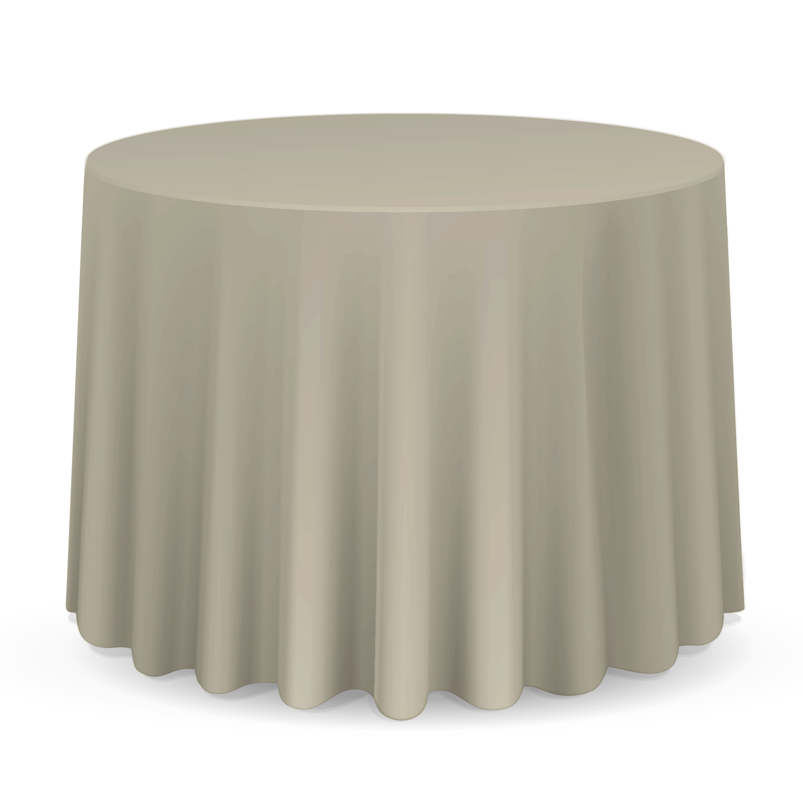 "Lanns Linens 108"" Round Clay Polyester Tablecloth Cover for Weddings, Banquets, or... by Lann's Linens"