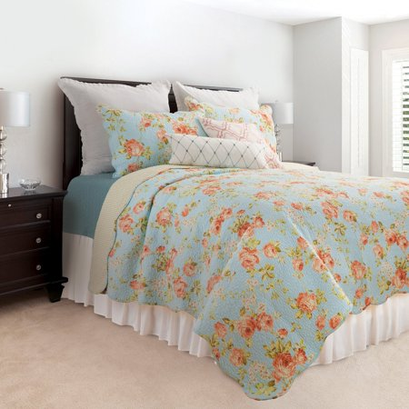 Whitney Design Set - Whitney Blue Quilt Set by C&F Home