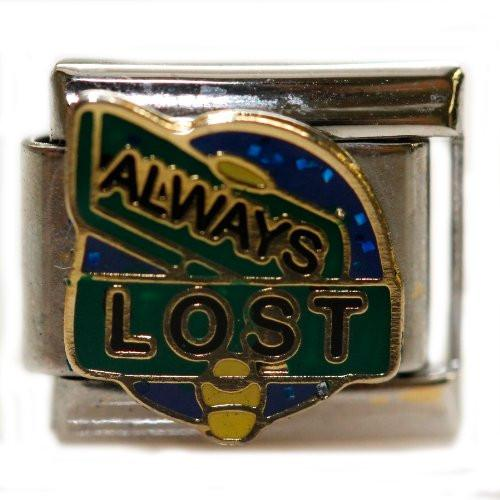 Always Lost Italian Charm Bracelet Link