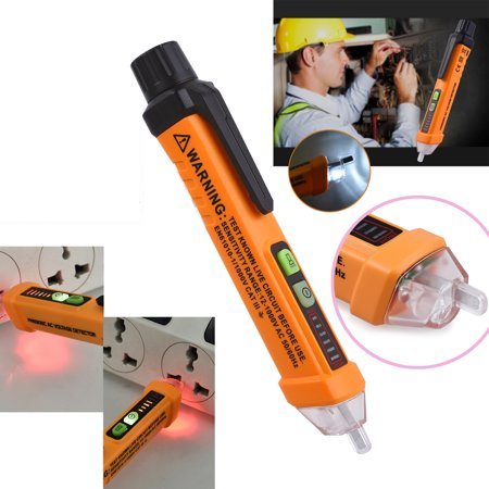 ESYNIC Voltage Tester Non-contact AC Voltage Detector Test Pen PM8908C with LED Light Indicator