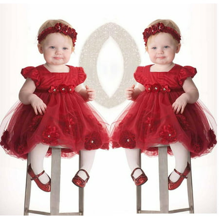 Toddlers Tutu Dress (Baby Toddler Girl Dress Flower Princess Wedding Party Pageant Tulle TUTU)