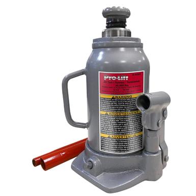 Pro-lift b-020d grey hydraulic bottle jack, 20 ton capacity
