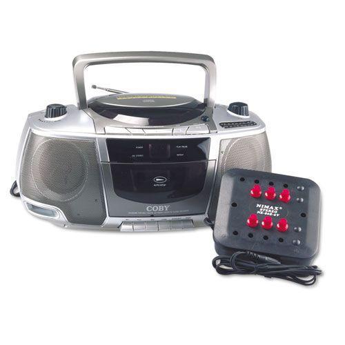 Amplivox Six-Station Listening Center/Boom box  - SL1014