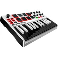 AKAI Professional MPK Mini MKII (White) Compact Keyboard and Pad Controller