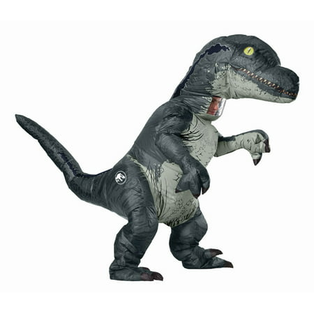 Jurassic World: Fallen Kingdom Mens Velociraptor Inflatable Halloween - Last Minute Scary Halloween Costumes For Men