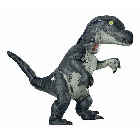 Jurassic World: Fallen Kingdom Mens Velociraptor Inflatable Halloween Costume - Baseball Halloween Costumes For Men