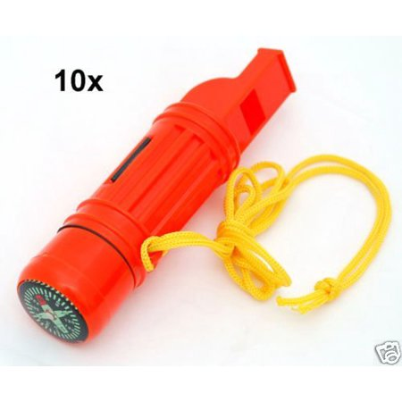 Wholesale Lot 10pc 5 in 1 Emergency Survival Compass Whistles, Handy Multifunction Survival tool By Hammers - Inflatable Hammers Wholesale