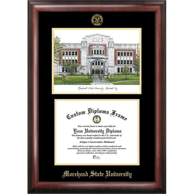 Campus Images KY985LGED Morehead State UniversityGold embossed diploma frame with Campus Images lithograph
