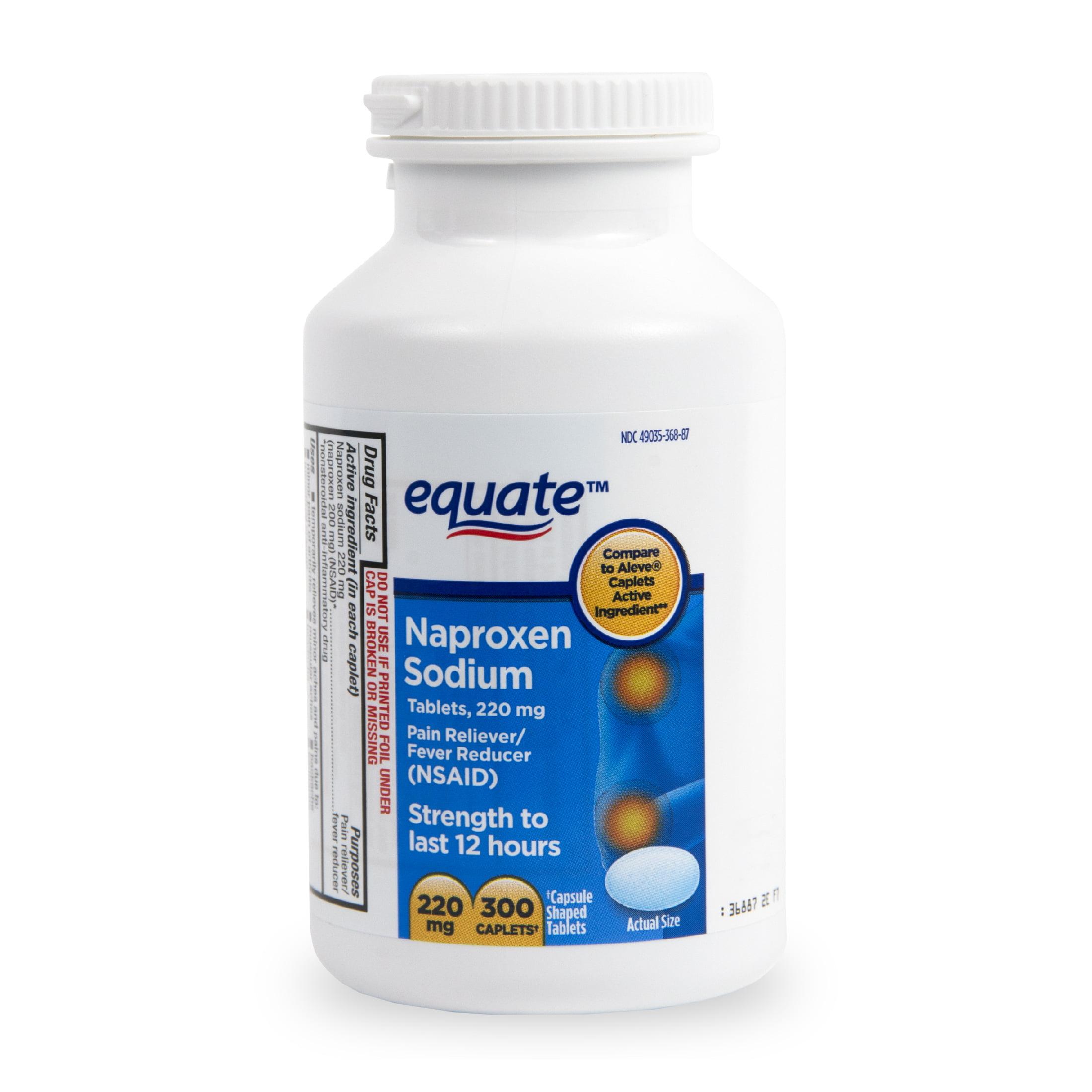 Equate Pain Relief Naproxen Sodium Caplets 220 Mg 300 Ct Walmartcom