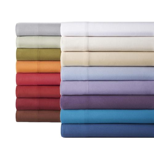 Micro Flannel solid sheet set Cal King - Plum