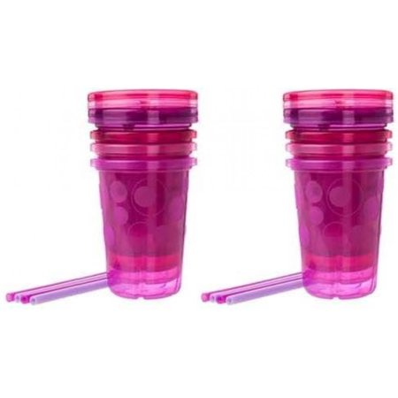 The First Years Take & Toss Spill-Proof Straw Cups - Pink Colors - 2 Sets Pink Egg Cup Set