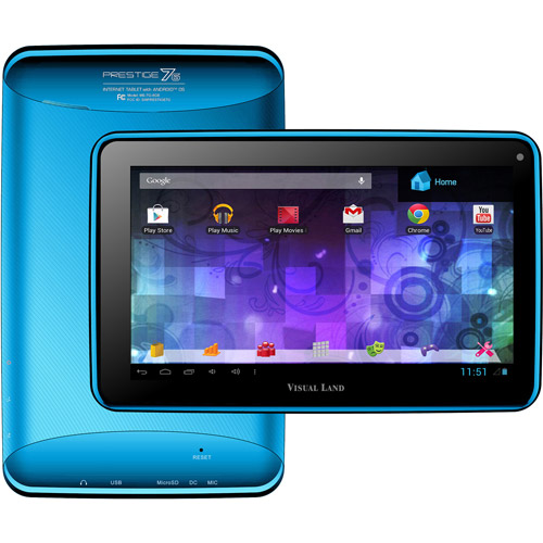 "Visual Land Prestige 7"" Touchscreen Android Tablet 8GB - Blue"