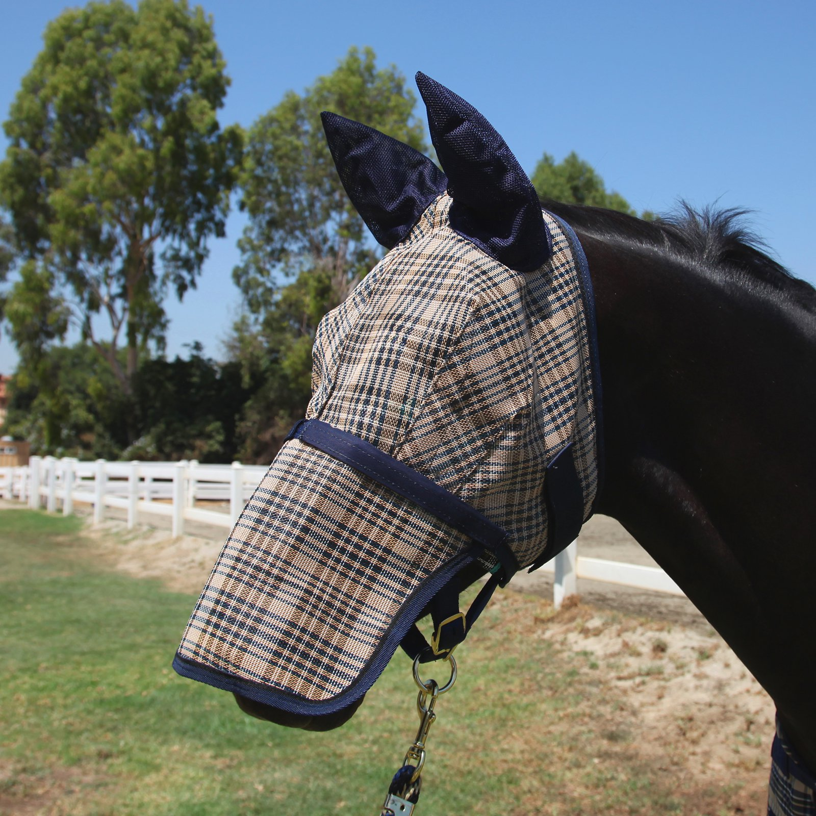Kensington Protective Products Signature Fly Mask With Removable Nose And Soft Mesh Ears