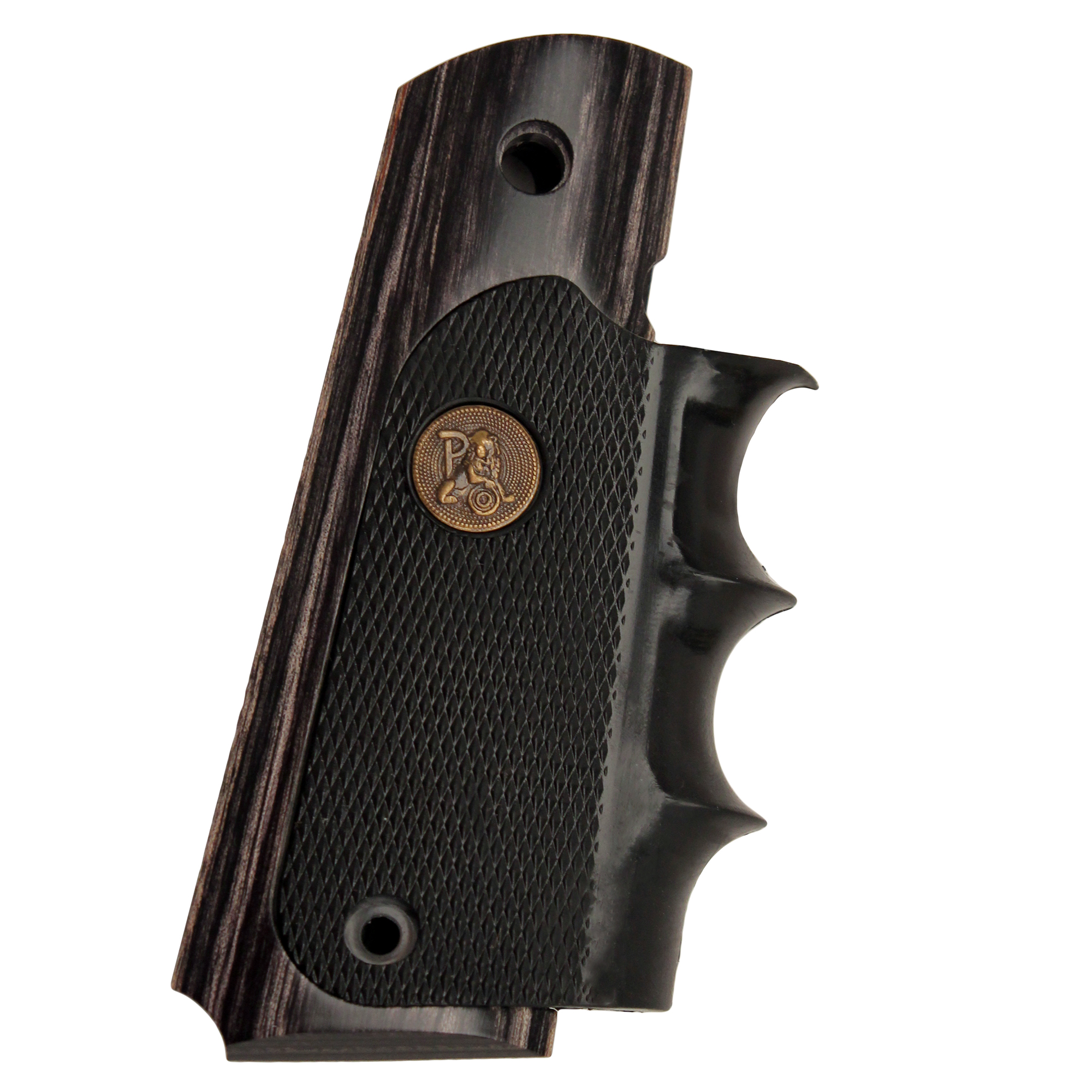 Pachmayr Colt 1911 Grip Charcoal Silvertone Laminate 00433