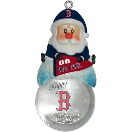 Topperscot By Boelter Brands Mlb Santa Snow Globe Ornament  Boston Red Sox