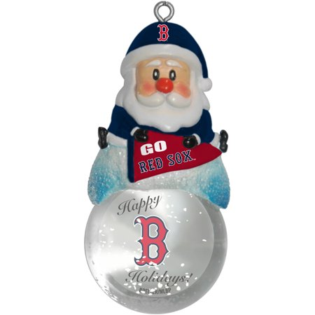 Topperscot by Boelter Brands MLB Santa Snow Globe Ornament, Boston Red Sox