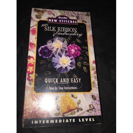 Silk Ribbon Embroidery VIDEO Intermediate NEW STITCHES Instruction BUCILLA