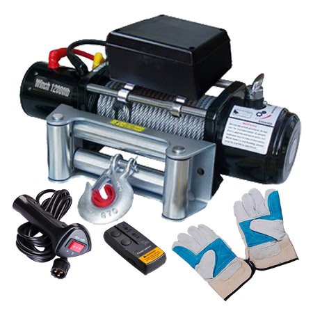 MEGA Wireless Remote 12000 Industury Electric Winch 12 Volt