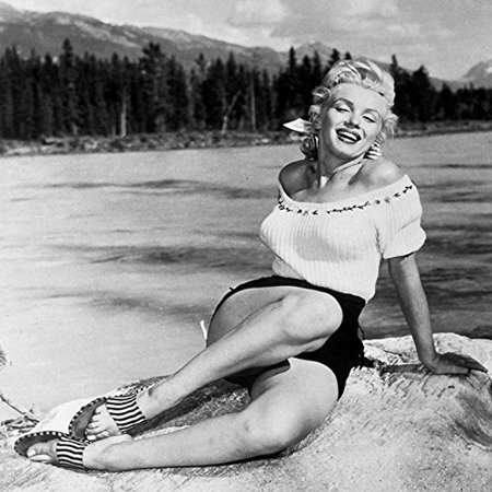 Rare Signed Photo - RARE Photograph of Marilyn Monroe On The Beach 12x12 Printed on Heavy Stock
