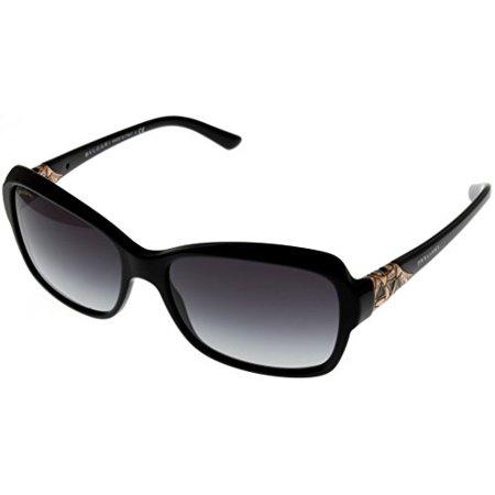 Bvlgari Sunglasses Rectangular Women Black BV8153B 501/8G Size: Lens/ Bridge/ Temple: 57_16_140