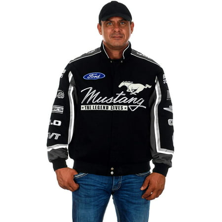 - JH Design Men's Ford Mustang Embroidered Cotton Twill Jacket