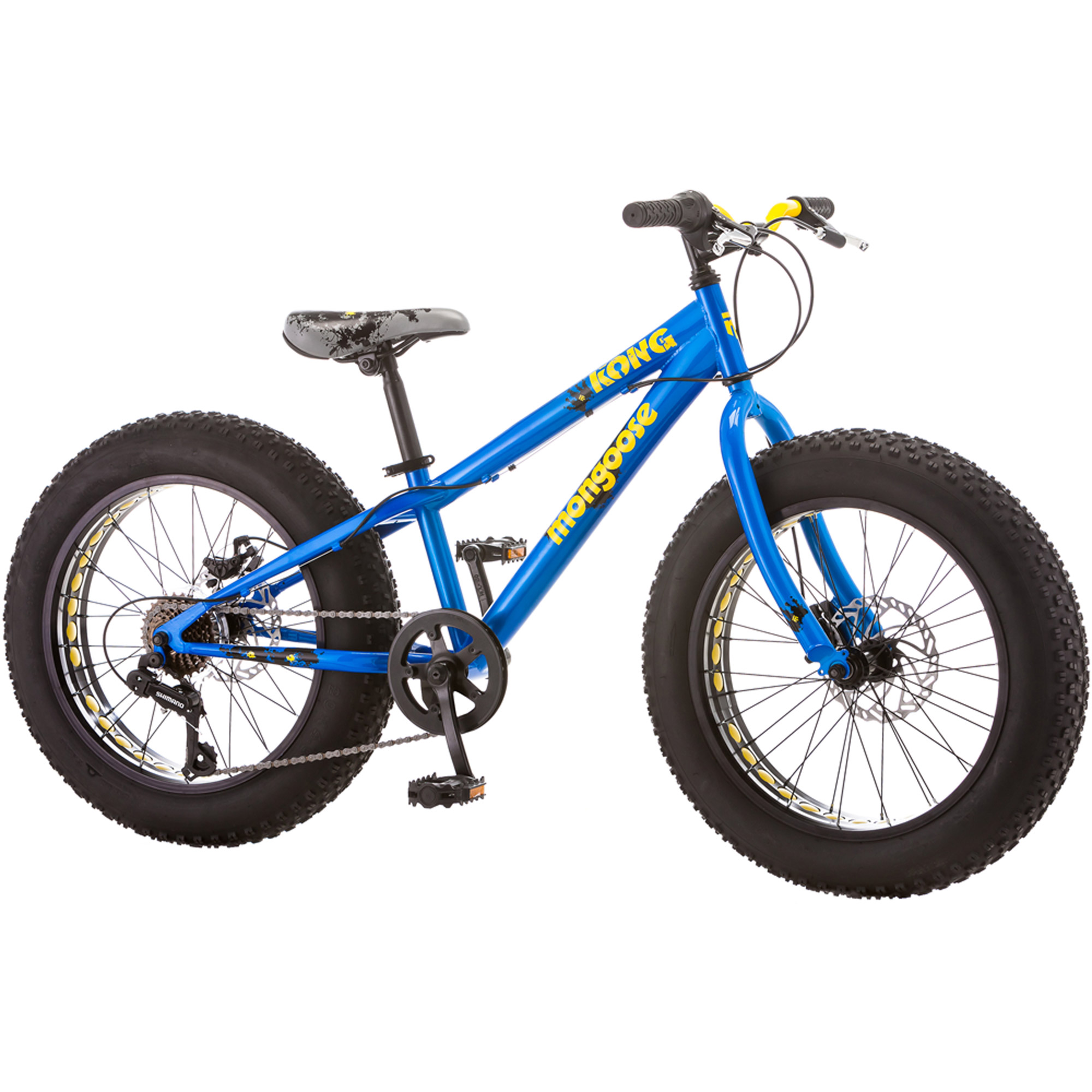 20 Mongoose Kong Boys All Terrain Fat Tire Bike Blue Speed
