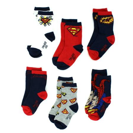 DC Comics Superman Boys 6-pack Crew Socks IUK607871 - Super Man Socks