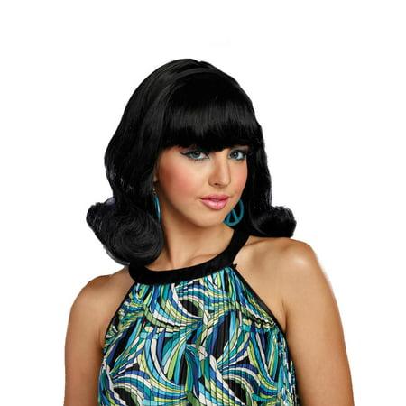 Dreamgirl Women's Decades Flip Wig Short Flip Wig