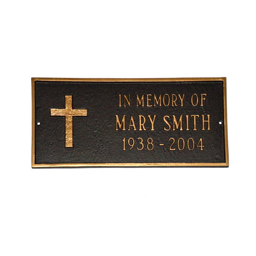 Montague Metal Products Inc. Rugged Cross Memorial Plaque