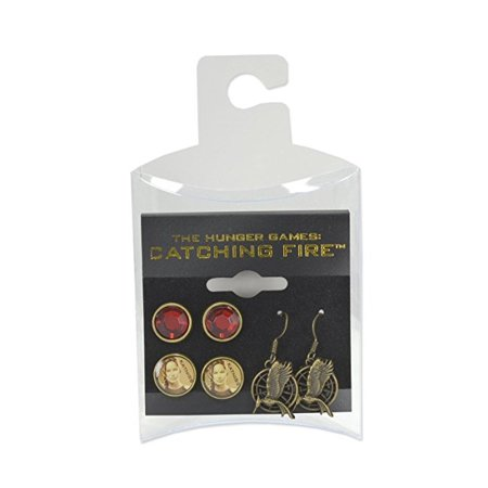 NECA The Hunger Games: Catching Fire Katniss Earrings, Set of 3 - Katniss Catching Fire