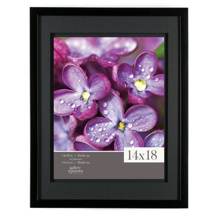 23 Matt - GALLERY SOLUTIONS 14X18 BLACK FRAME, DOUBLE MATTED TO 11X14