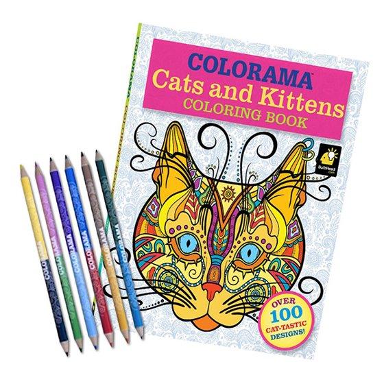 Telebrands Press Colorama Cats Kittens Coloring Book